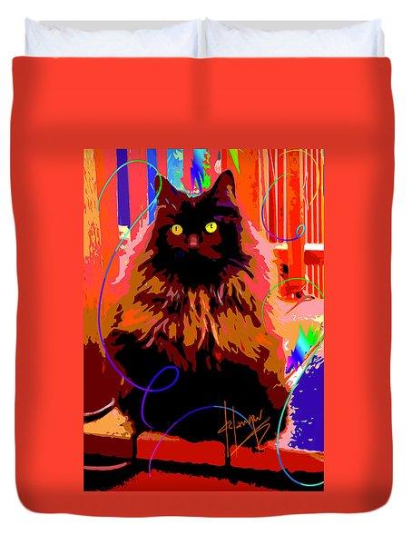 Pop Cat Delilah Duvet Cover