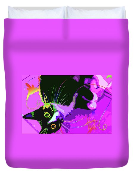 Pop Cat Dotty Duvet Cover