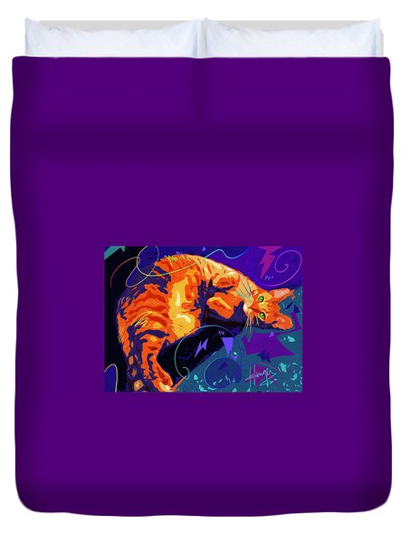 Pop Cat Miles Duvet Cover
