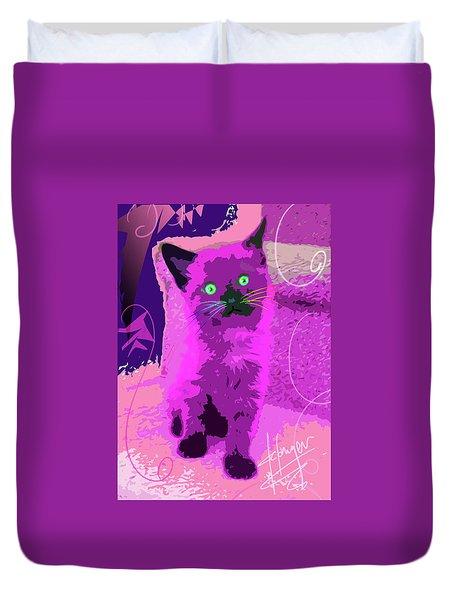 Pop Cat Sparky Duvet Cover