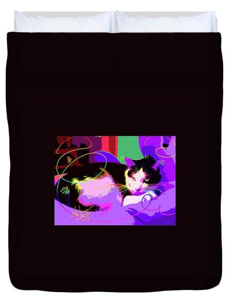 Pop Cat Stitch Duvet Cover