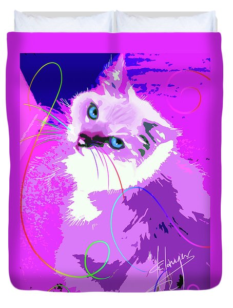 Pop Cat Tiffany Duvet Cover