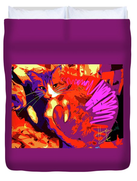 Pop Cat Tiger Duvet Cover