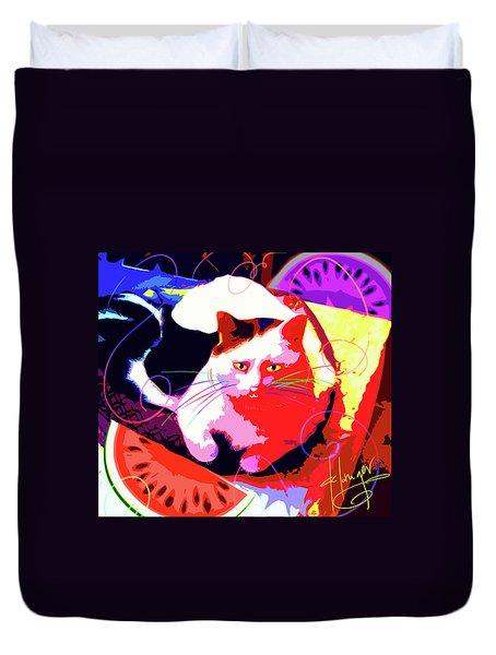 Pop Cat Toby Duvet Cover