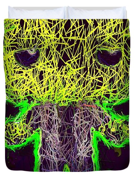 Frankenstein Pop 2 Duvet Cover