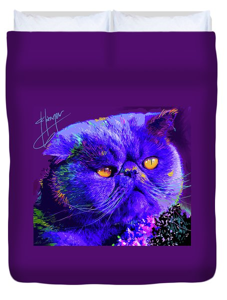 pOpCat Captain Blue Chip Duvet Cover