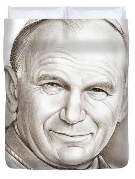 Pope John Paul II Duvet Cover