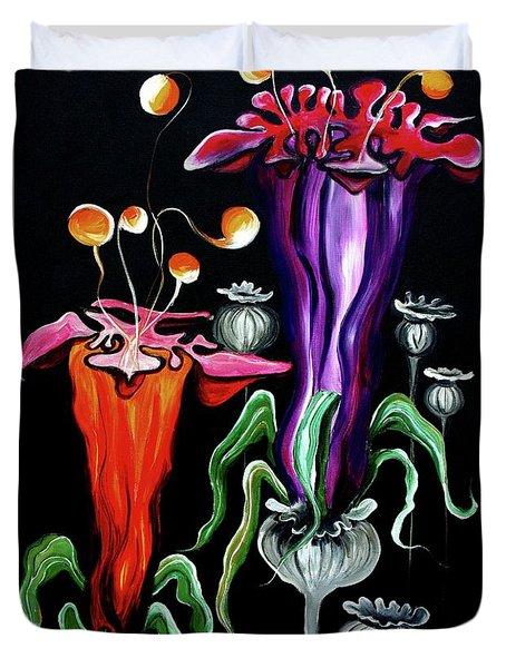 Poppies Fantasy.. Duvet Cover