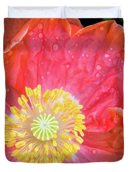 Poppy Closeup Duvet Cover