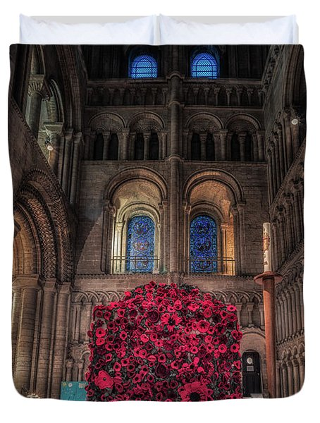 Poppy Display At Ely Cathedral Duvet Cover