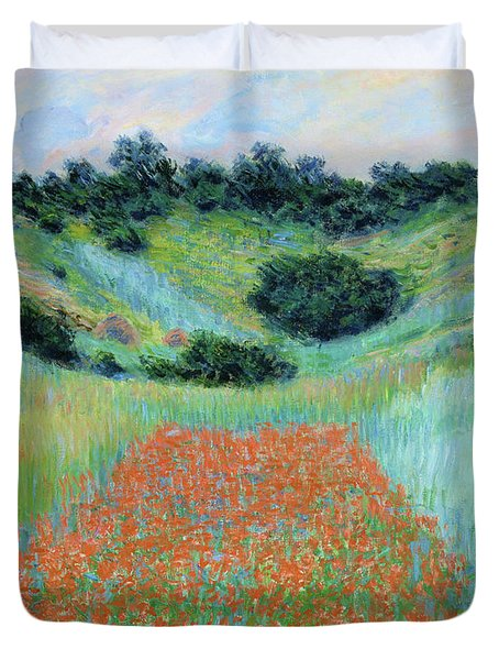 Poppy Field In A Hollow Near Giverny - Digital Remastered Edition Duvet Cover