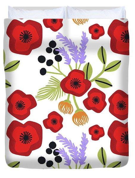 Poppy Print Duvet Cover