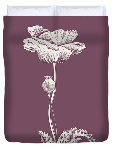 Poppy Purple Flower Duvet Cover