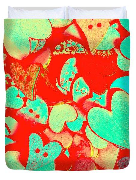 Pops Of Button Romance Duvet Cover