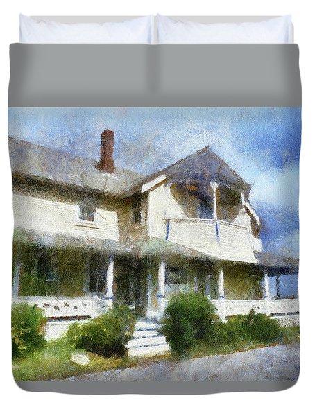 Porch Marthas Vineyard Cape Cod Massachusetts Pa Duvet Cover