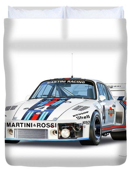 1976 Porsche 935 Martini Duvet Cover