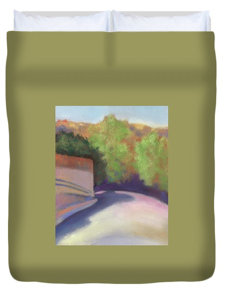 Port Costa Street In Bay Area Duvet Cover