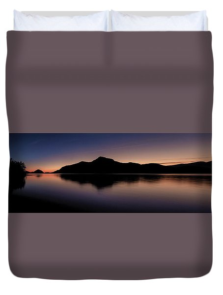 Porteau Cove Panoramic Blue Hour 2 Duvet Cover