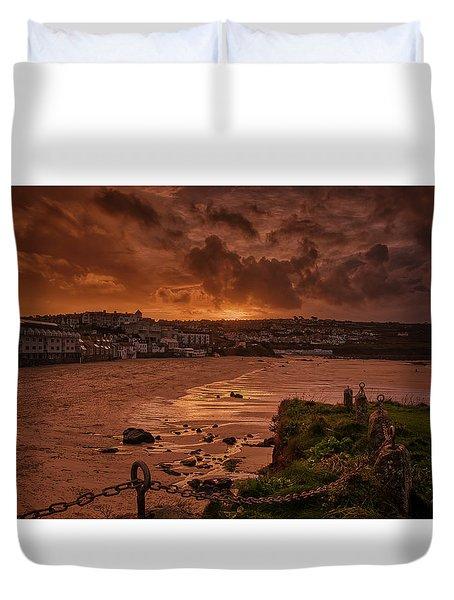 Porthmeor Sunset 2 Duvet Cover