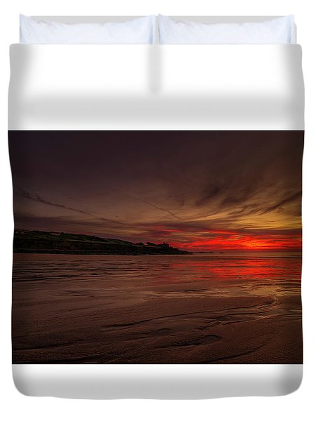 Porthmeor Sunset Duvet Cover