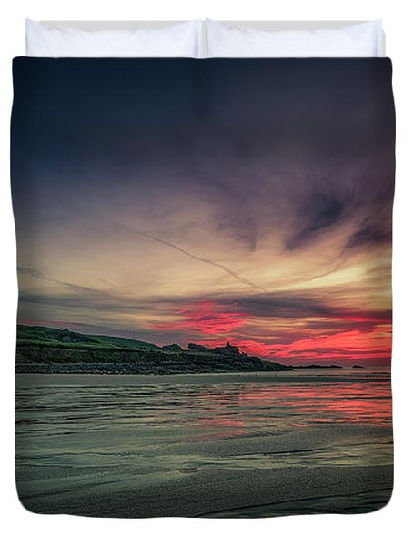 Porthmeor Sunset Version 2 Duvet Cover