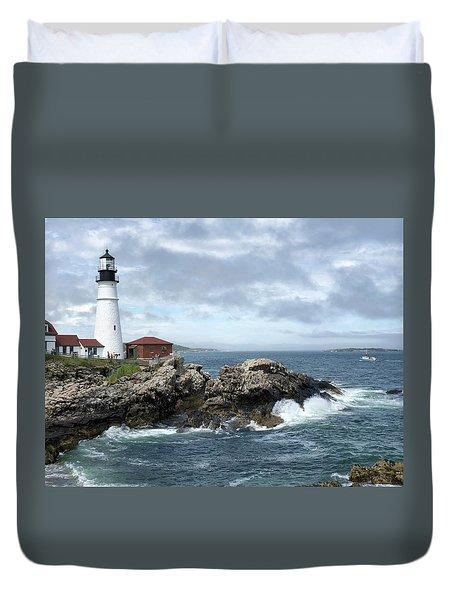 Portland Head Light House Duvet Cover