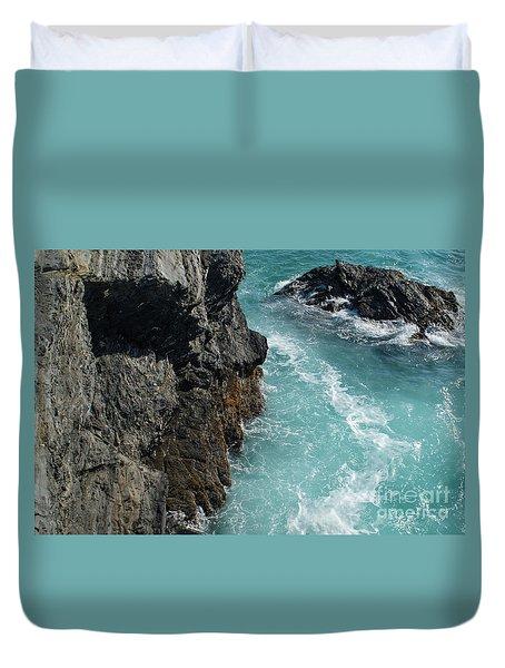 Porto Covo Cliff Views Duvet Cover