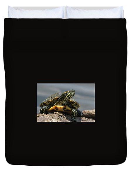 Portrait Of A Turtle Duvet Cover