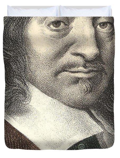 Portrait Of Descartes 1596 - 1650 Duvet Cover