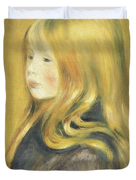 Portrait Of Edmond Renoir, Jr., 1888 Duvet Cover