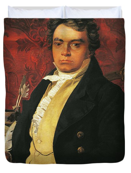 Portrait Of Ludwig Van Beethoven Duvet Cover