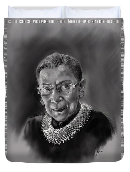 Portrait Of Ruth Bader Ginsburg Duvet Cover
