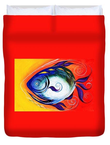 Positive Fish Duvet Cover
