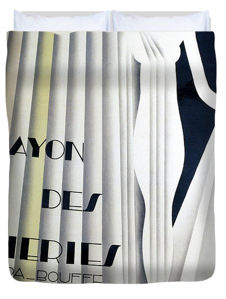 Poster For Rayon Des Soiries, Comic Opera, Libretto By Nino, Music By Manule Rosenthal Duvet Cover