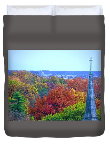 Duvet Cover featuring the photograph Power And Glory by Don Moore