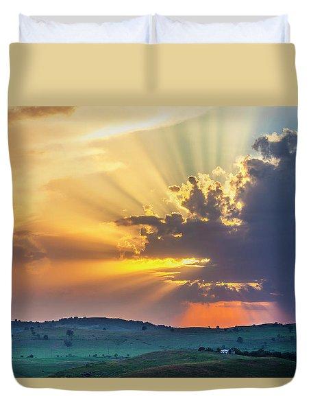 Powerful Sunbeams Duvet Cover