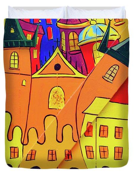 Prague Art Duvet Cover