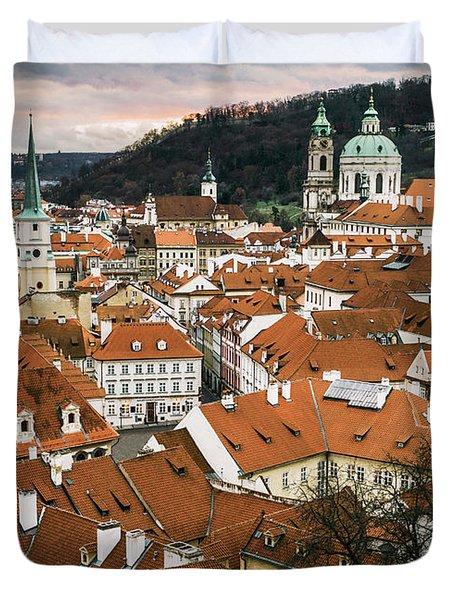 Prague Cityscape Duvet Cover