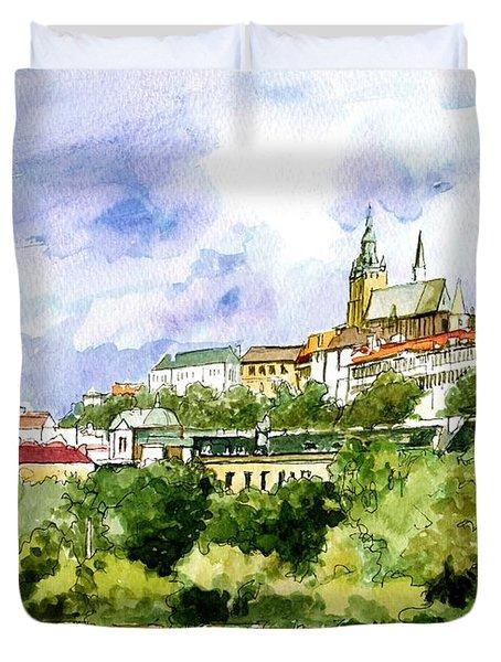 Prague, Czech Duvet Cover