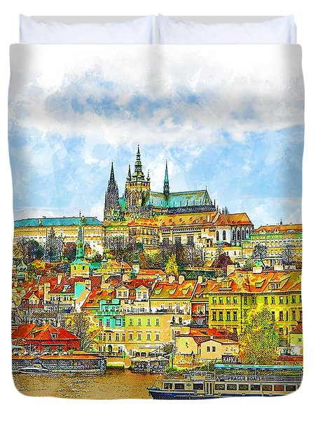 Prague, Czech Republic Duvet Cover