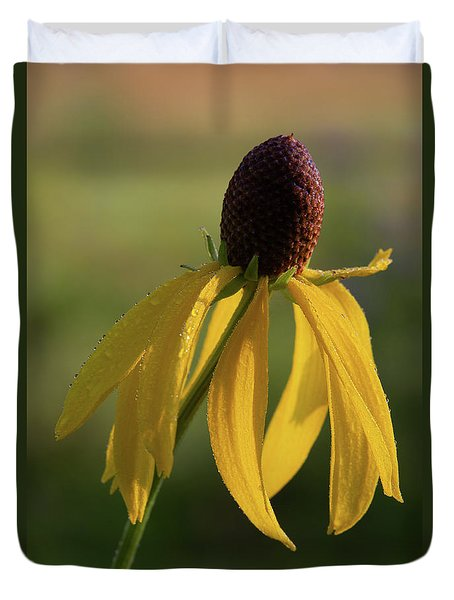 Duvet Cover featuring the photograph Prairie Coneflower by Dale Kincaid