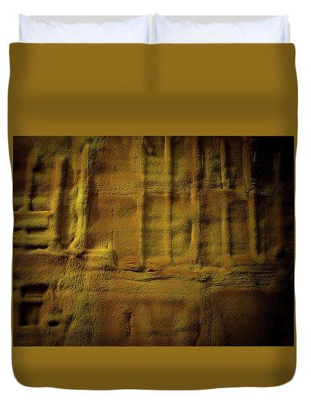 Prehistoric Scene Duvet Cover