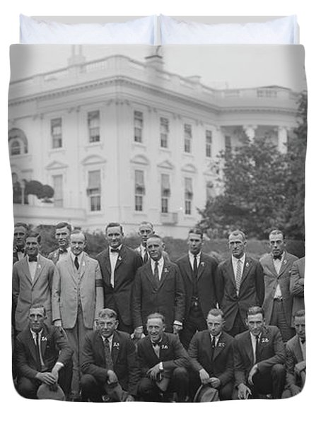 President Coolidge & The Worlds Duvet Cover