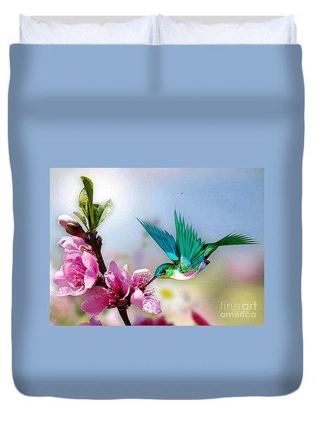 Pretty Hummingbird Duvet Cover