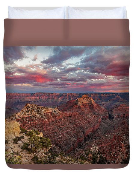Duvet Cover featuring the photograph Pretty In Pink by Rick Furmanek