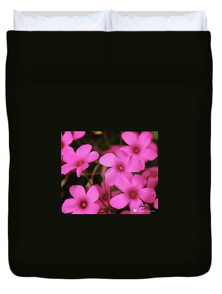 Pretty Pink Phlox Duvet Cover