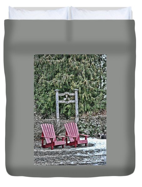 Prop Chairs Duvet Cover
