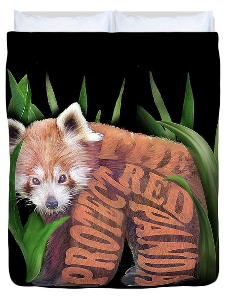 Protect The Red Panda Duvet Cover