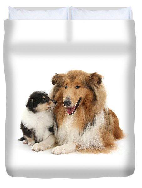 Duvet Cover featuring the photograph Proud Mother And Pup by Warren Photographic