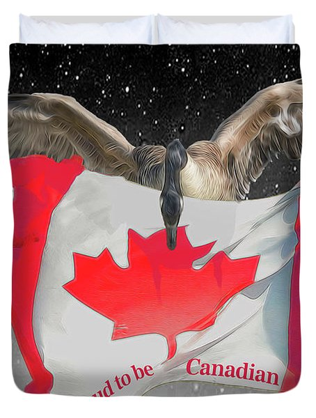 Proud To Be Canadian Duvet Cover
